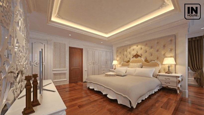 Nội thất phòng ngủ được thiết kế theo phong cách cổ điển
