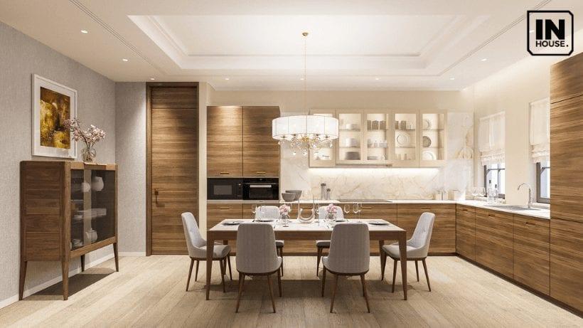 Phòng ăn thiết kế theo phong cách hiện đại