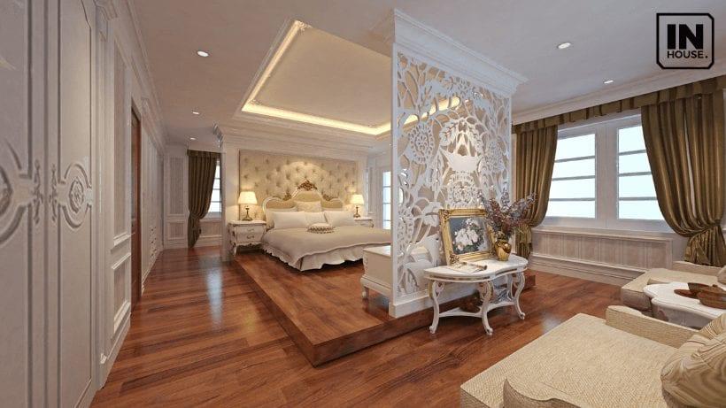 Phòng ngủ thiết kế theo phong cách thiết kế tân cổ điển