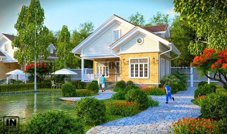 Mẫu thiết kế biệt thự vườn hiện đại kiểu Mỹ