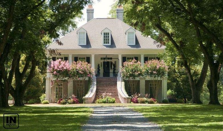 Mẫu thiết kế biệt thự vườn kiểu Mỹ phong cách cổ điển