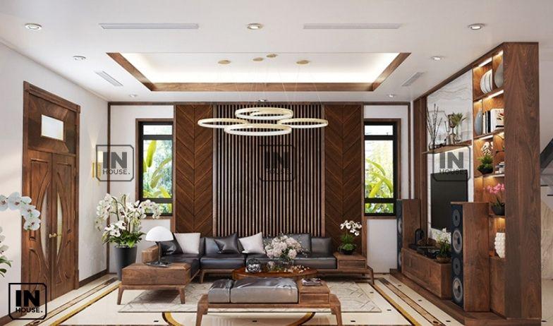 Thiết kế nội thất với gỗ óc chó