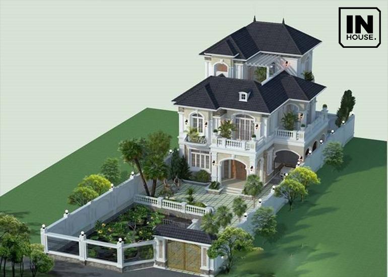 Thiết kế biệt thự đơn lập kiểu nhà vườn Châu Âu