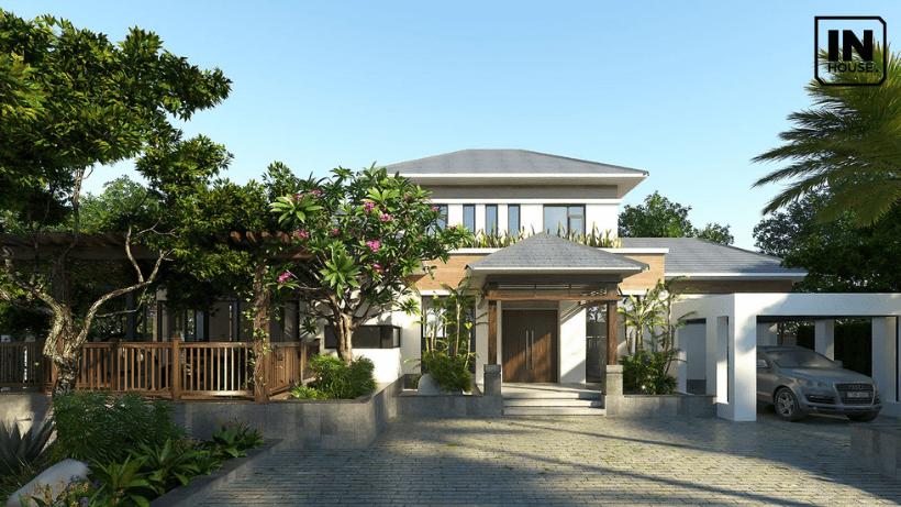 Ý tưởng thiết kế với biệt thự sân vườn