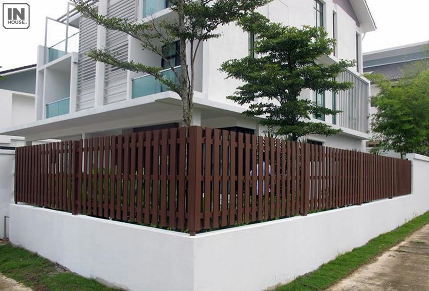 Xây dựng tường rào giả gỗ