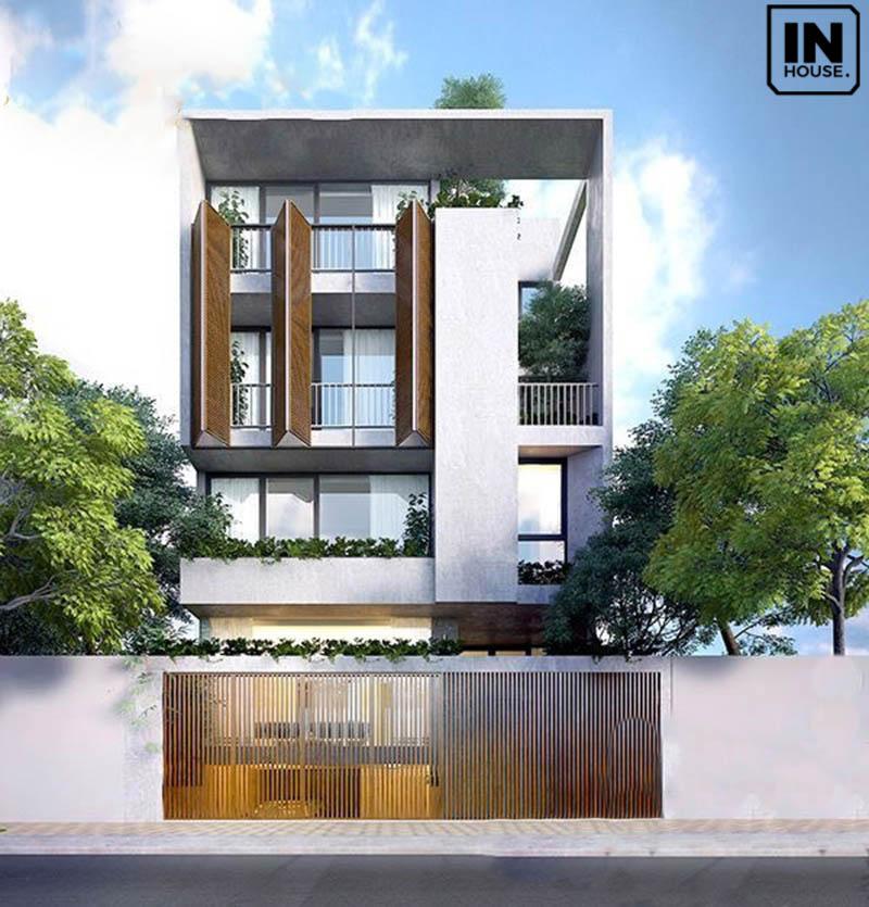 Biệt thự 2 tầng với thiết kế mái bằng