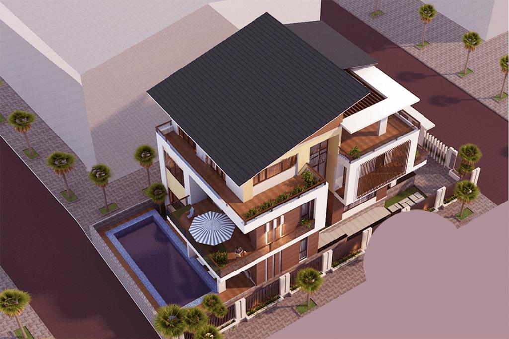 Biệt thự theo phong cách hiện đại