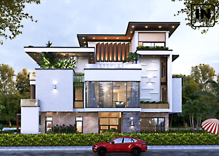 3+ Mẫu thiết kế biệt thự đơn lập đẹp, sang trọng năm 2021