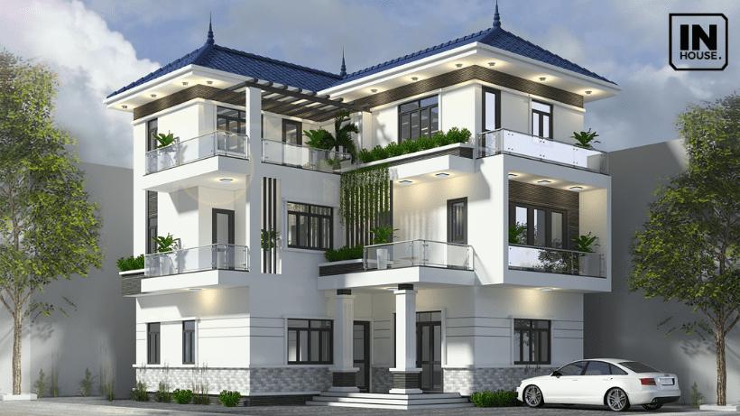 Ý tưởng thiết kế với biệt thự 3 tầng hiện đại