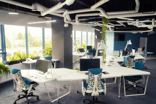 Thiết kế văn phòng với không gian mở