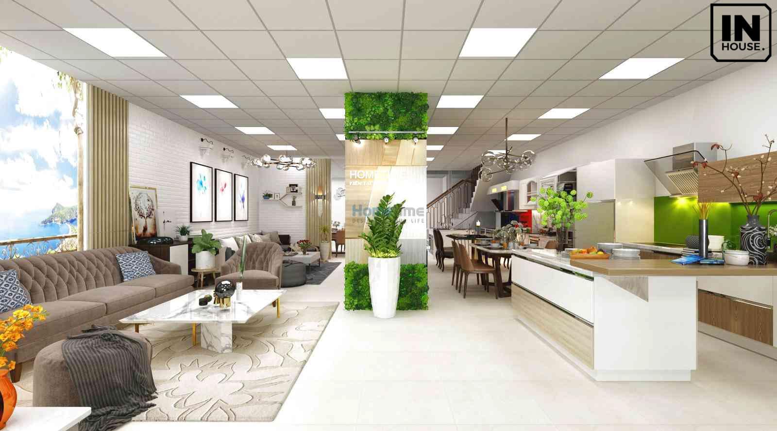 Thiết kế showroom văn phòng hiện đại
