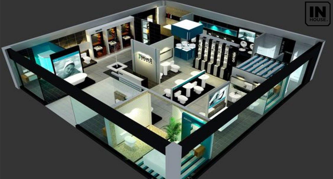 Mô hình thiết kế showroom vật liệu xây dựng