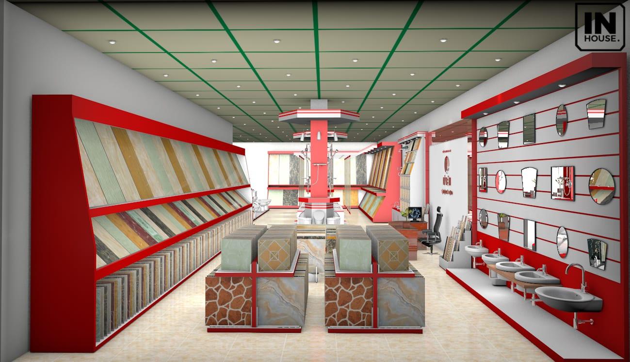 Không gian showroom vật liệu xây dựng