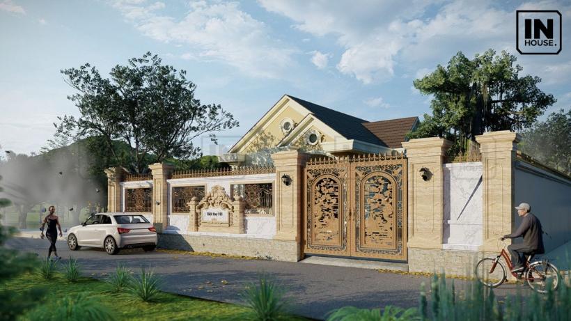 biệt thự nhà vườn cấu trúc mái thái