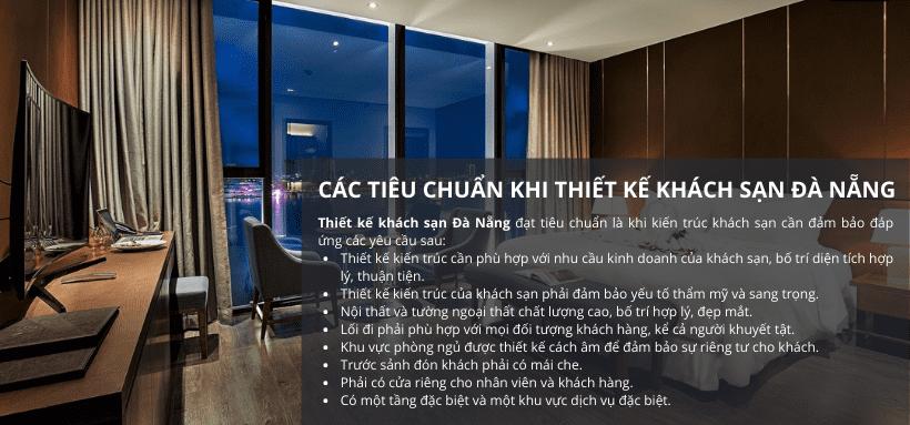 Các tiêu chuẩn trong thiết kế khách sạn tại Đà Nẵng