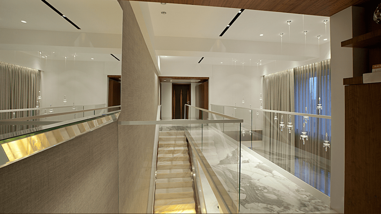 Cầu thang trong căn penthouse