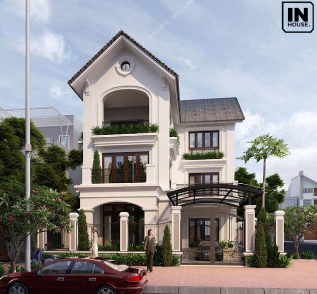 Biệt thự 3 tầng phong cách cổ điển