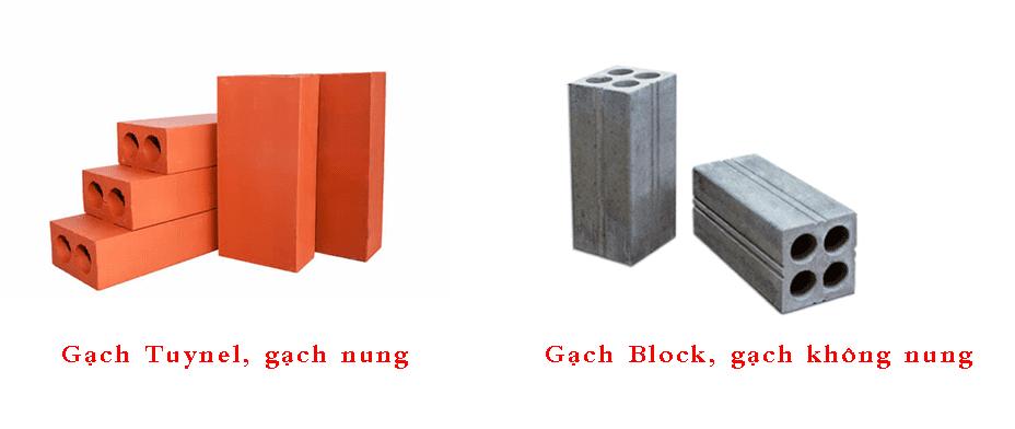 Gạch Tuynel và gạch Block