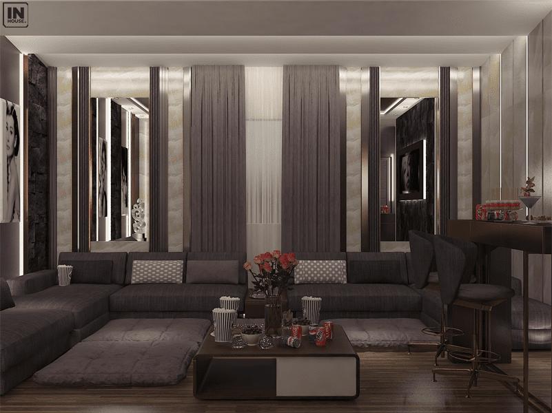 Phòng khách trong phong cách hiện đại
