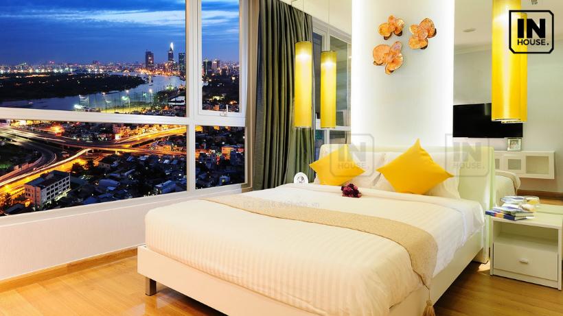 Phòng ngủ với tông màu vàng