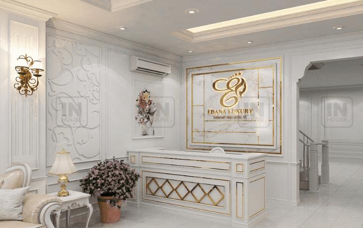 Quầy lễ tân khách sạn theo phong cách tân cổ điển  (Ảnh: Internet)