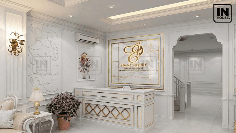 Quầy lễ tân khách sạn theo phong cách tân cổ điển