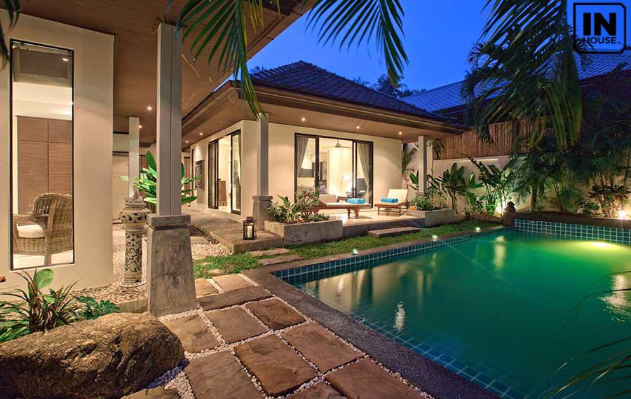 Biệt thự sân vườn có bể bơi