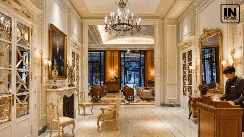 Sảnh khách sạn theo phong cách tân cổ điển