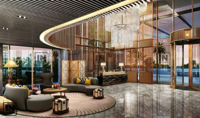 thiết kế quầy lễ tân khách sạn