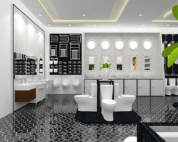 Thiết kế showroom thiết bị vệ sinh kiểu có thiết kế Decor (Ảnh: Internet)