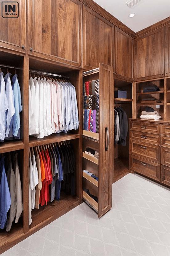 Tủ quần áo bằng gỗ óc chó