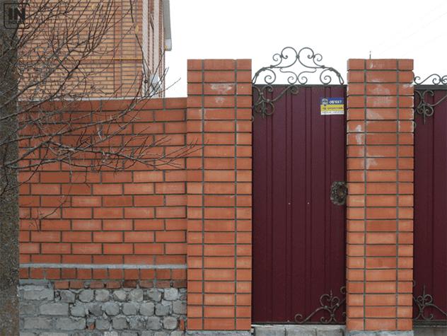 Tường rào bằng gạch Tuynel
