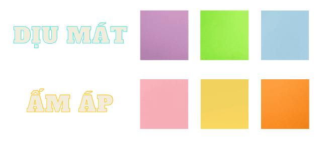 Các tông màu Pastel cơ bản