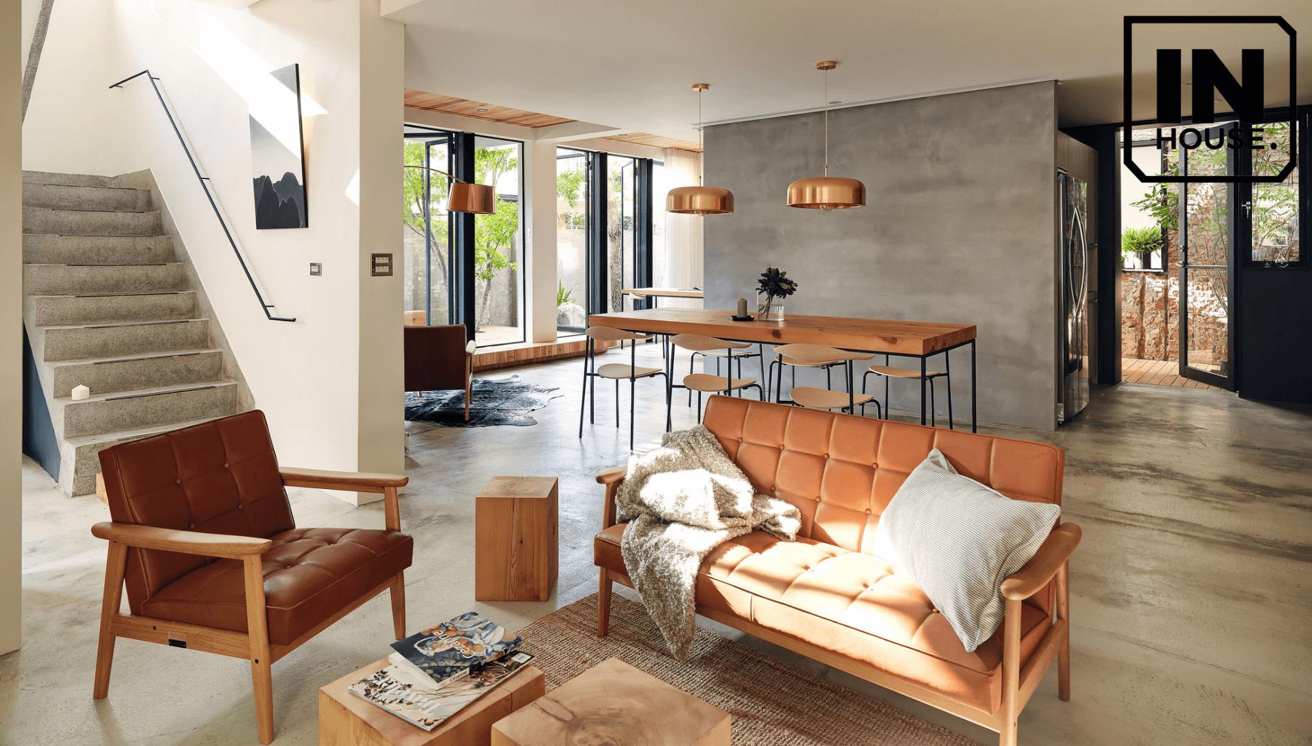 Làm nổi bật chất liệu gỗ trong gian nhà bạn