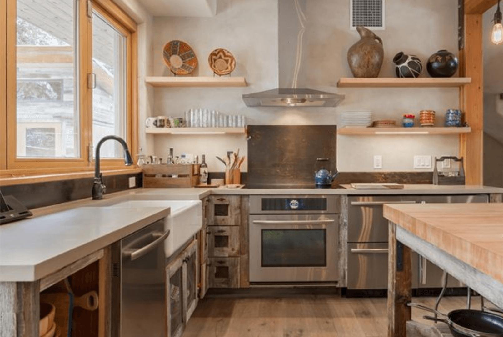 Phòng bếp mang phong cách organic