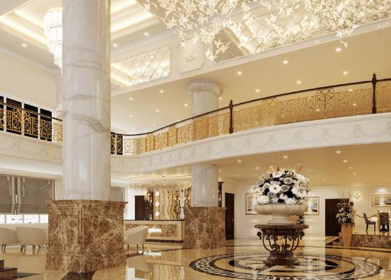 Phong cách nội thất khách sạn Tân Cổ Điển  (Ảnh: Internet)