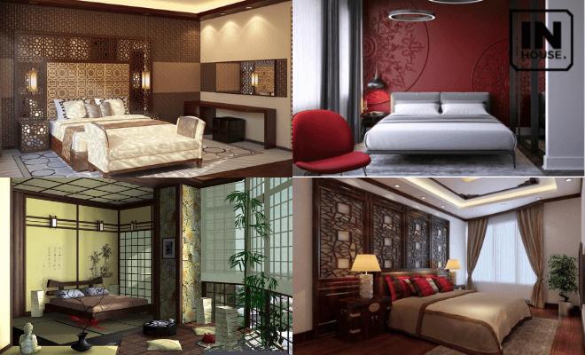 Phòng ngủ khách sạn 2 mặt tiền theo phong cách Trung Quốc
