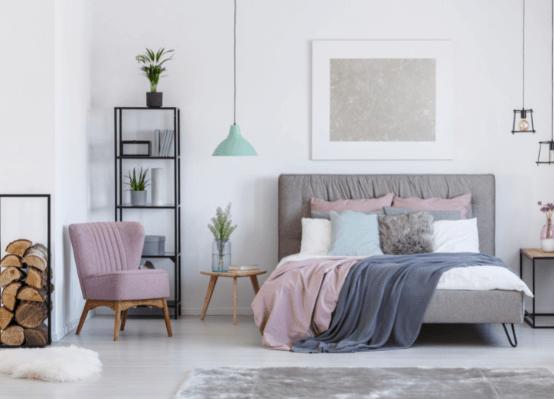 Phòng ngủ tông màu pastel