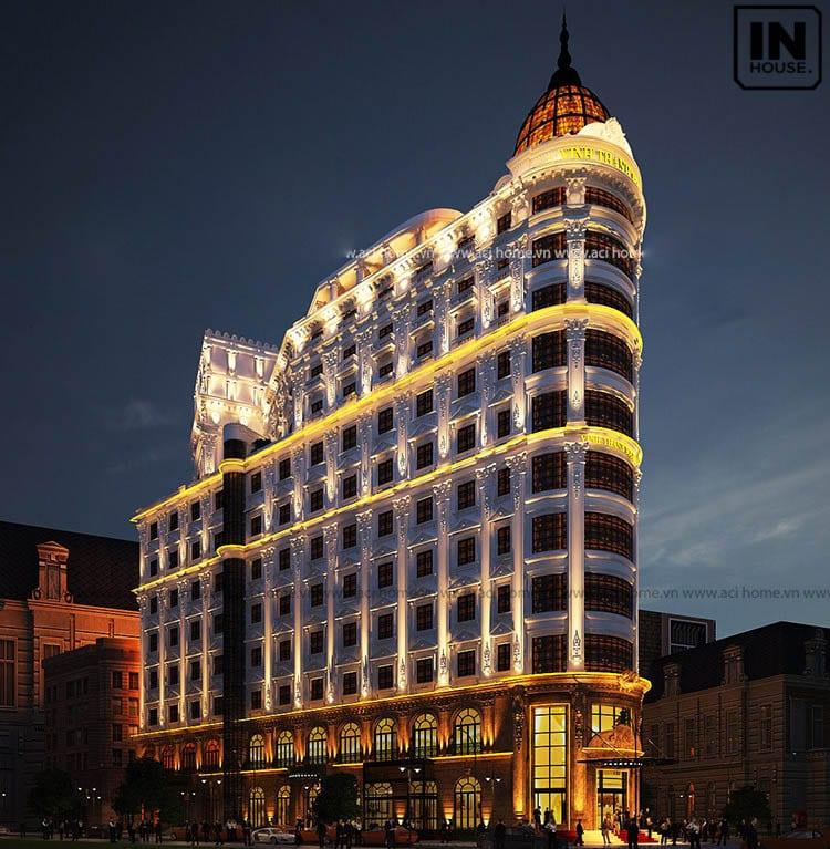 Khách sạn 11 tầng phong cách cổ điển