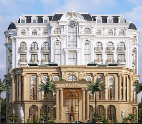 Thiết kế khách sạn mang phong cách tân cổ (Ảnh: Internet)
