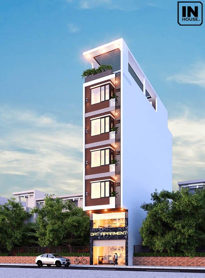 Khách sạn 5x20m với 7 tầng