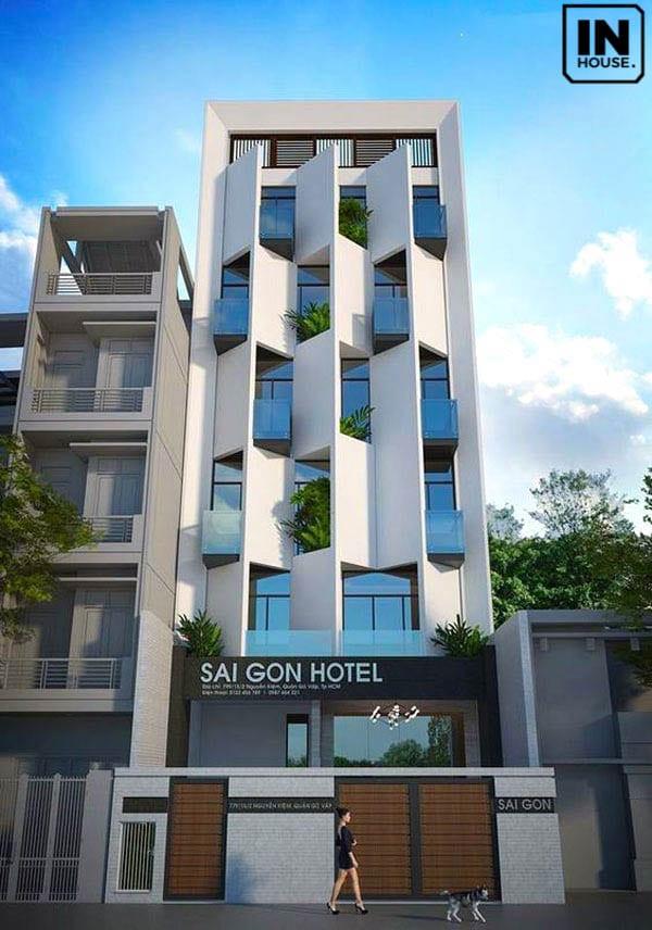 Khách sạn mini 5x20m độc đáo