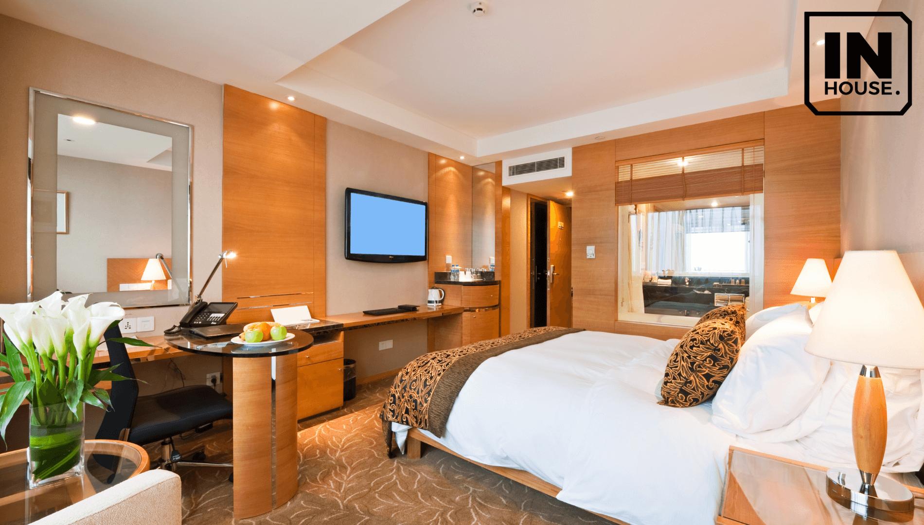 Thiết kế khách sạn mini đẹp với chất liệu gỗ