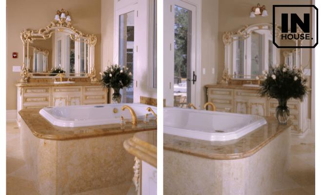 Thiết kế phòng tắm khách sạn kiểu Pháp