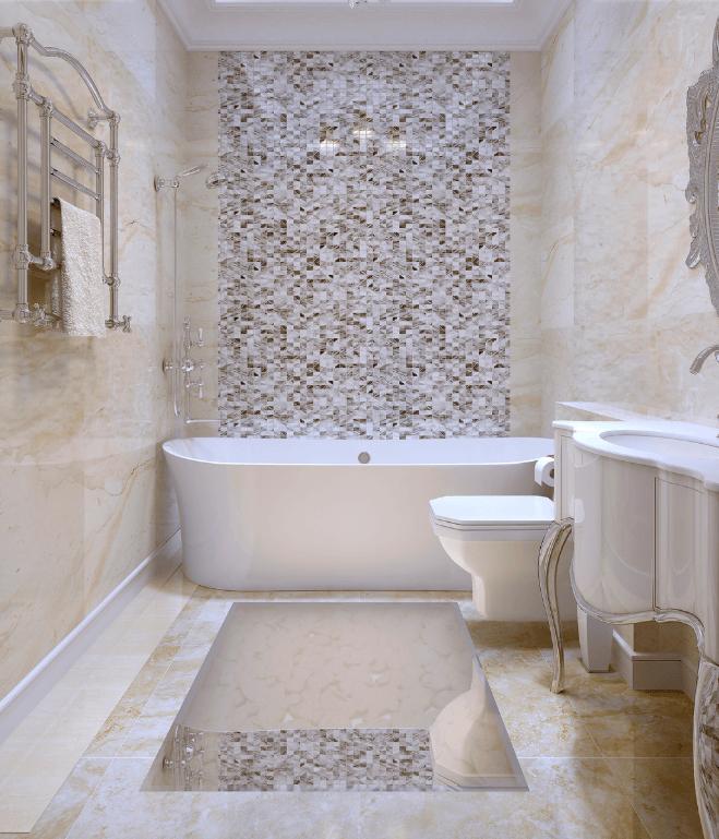 Thiết kế phòng tắm khách sạn Phong Cách Tân Cổ Điển  (Ảnh: Internet)