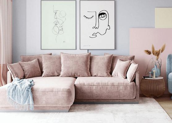 Tông pastel cho phòng khách