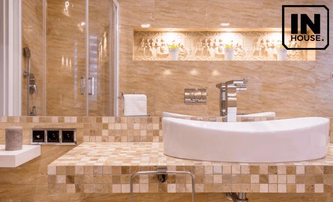 Trang trí phòng tắm trong thiết kế khách sạn kiểu Pháp trong