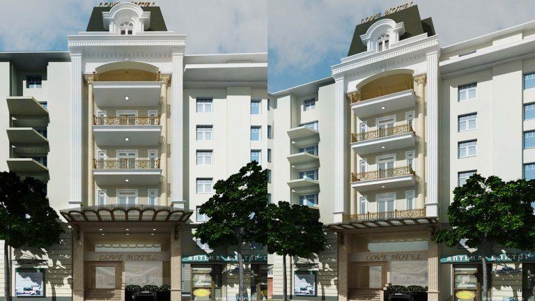 Khách sạn mặt tiền 8m