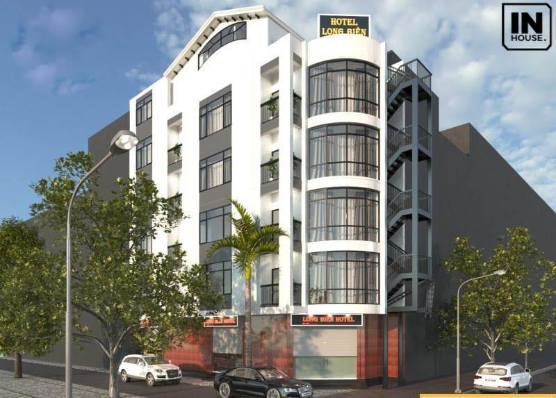 Thiết kế khách sạn 4 tầng theo phong cách hiện đại