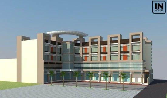 Phối cảnh thiết kế khách sạn 4 tầng